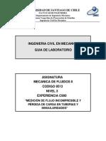 C900 Medición de Flujo Incompresible y Pérdida de Carga en Tuberías y Singularidades