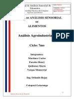 Manual de Análisis Sensorial