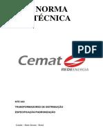 Nte 043 Transformador de Distribuição Especificação Rvisão03
