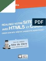 Apprenez a Creer Votre Site Web Avec HTML5 Et CSS3 - Nebra, Mathieu