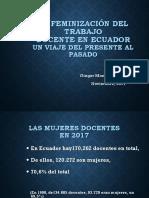 Feminización de La Docencia en Ecuador
