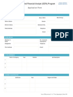 CCFA Application Form