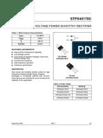 STPS40170C high voltage power schottky rectifier diode.pdf