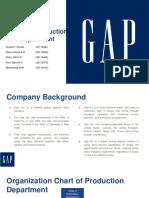 GAP Inc. Production Department