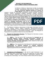 La solicitud global de información (RFI)