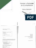 EDELSTEIN - Formar y Formarse en La Enseñanza