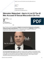 Weinstein Watershed - Here's a List of the 42 Men Accused of Sexual Misconduct (So Far)