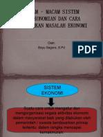 PPT Sistem Ekonomi