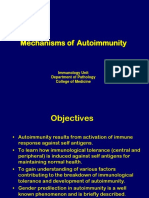 Mechanism of Autoimmunity