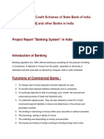 Project Report Credit Schemes of State Bank of India