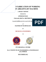 Abrasive Jet Machine-Report