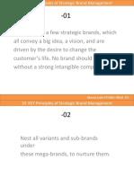 01- Strategic Brand Mangement- 10 Must's