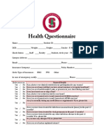 Health Questionnaire