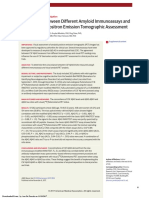2017-Concordance Amyloid Immunoassays and Visual Amyloid PET