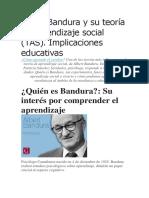 Albert Bandura y Su Teoría de Aprendizaje Social