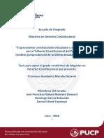 Morales Saravia Francisco Precedente Constitucional