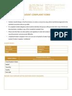 10. Student Complaint Form
