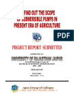 To find out the scope of submersible pumps in present era of agriculture