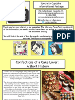 Cupcake Info Pack Confections of a Cake Lover