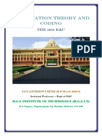 VTU E&C(CBCS) 5th Sem Information theory and coding full notes (1-5modules)