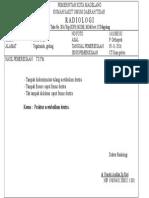 CT Scan Pelvis Fraktur Acetabullum Dextra.