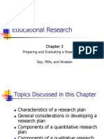 CH03 - Preparing and Evaluating a Research Plan