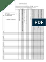Lista de Cotejo para primaria ciclo medio