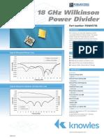 6 18 GHz Power Divider Press
