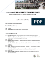 The Stoic Tradition 2017 Preliminary Programme