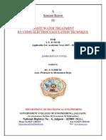 Waste water treatment by electrocoagulatiton