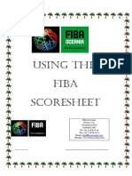 Using Fiba Scoresheet