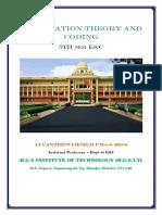 VTU E&C CBCS scheme 5th Sem Information theory and coding Module-5 notes
