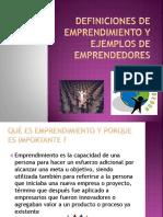 Definiciones de Emprendimiento y Ejemplos de Emprendedores
