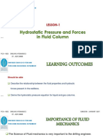 CH-1-2 Hydrostatic Pressure and Forces in Wellbore
