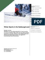 Winter Sports in the SalzburgerLand en