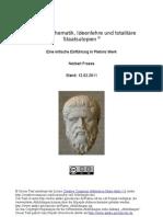 Platon - Mathematik, Ideenlehre und totalitäre Staatsutopien