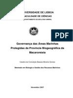 Governança Das Áreas Marinhas