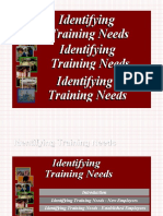 Identif Ing Training Needs