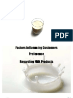 Factors Influencing Customers Preference Regarding Milk Products