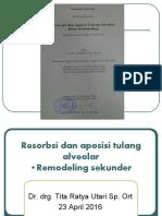 123dok Resorbsi Dan Aposisi Tulang Alveolar Remodeling Sekunder