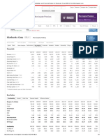 Growth, Profitability, And Financial Ratios for Starbucks Corp (SBUX) From Morningstar