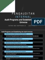 Audit Programs and Establishing the Audit Universe