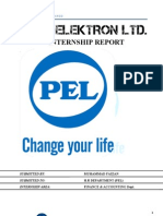 Pak Elektron Ltd. (Pel). Internship Report to Hr Dept. 03