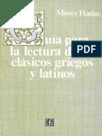 Guia Para La Lectura de Los Clásicos Griegos y Latinos