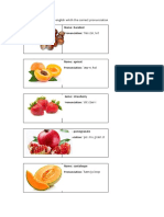 Fruits and Vegetables in English Whith the Correct Pronunciation 5