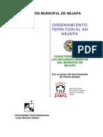 Caracterizacion de los recursos hidricos del Municipio de Nejapa. El Salvador