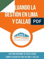 Lima Como Vamos. 2017. Séptimo Informe de Gestión en Lima y Callao 2016