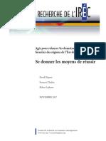 Le rapport de recherche de l'IREC
