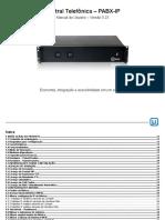 PDF Manual pabx ip Utech