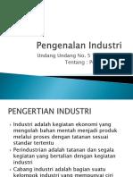 Pengenalan Industri